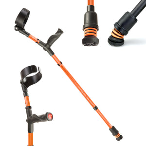 Flexyfoot Comfort Grip Double Adjustable Crutches - Orange
