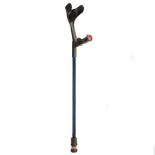 Load image into Gallery viewer, Flexyfoot Comfort Grip Open Cuff Crutches - Blue