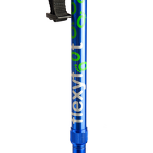 Load image into Gallery viewer, Flexyfoot Premium Cork Handle Folding Walking Stick - Blue