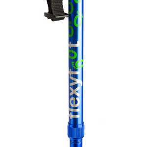 Flexyfoot Premium Cork Handle Folding Walking Stick - Blue