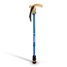 Load image into Gallery viewer, Flexyfoot Premium Cork Handle Walking Stick - Blue