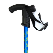 Load image into Gallery viewer, Flexyfoot Premium Derby Handle Walking Stick - Blue