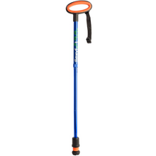 Load image into Gallery viewer, Flexyfoot Premium Oval Handle Folding Walking Stick - Blue