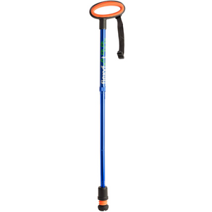 Flexyfoot Premium Oval Handle Folding Walking Stick - Blue