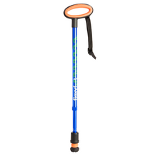 Load image into Gallery viewer, Flexyfoot Premium Oval Handle Walking Stick - Blue