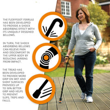 Load image into Gallery viewer, Flexyfoot Premium Derby Handle Folding Walking Stick