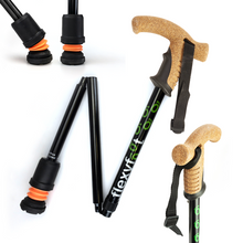 Load image into Gallery viewer, Flexyfoot Premium Cork Handle Folding Walking Stick