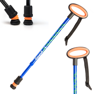 Flexyfoot Premium Oval Handle Walking Stick - Blue