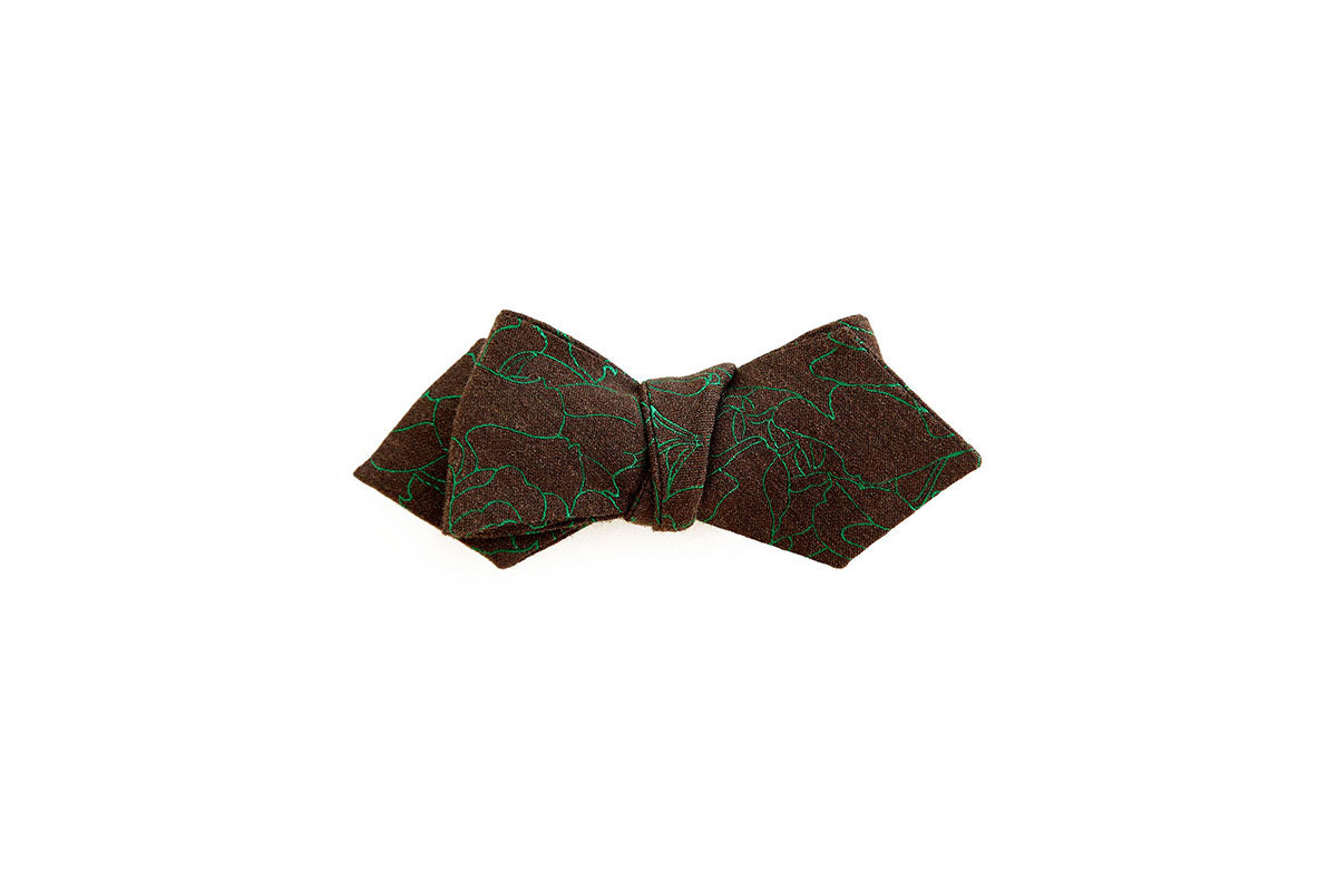 The Rose Weave Bow Tie