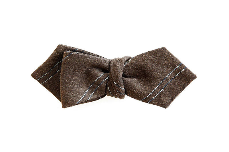 The Chalk Stripe Bow Tie