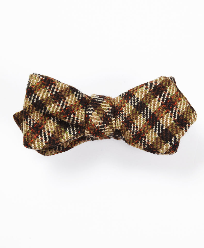The Gun Check Bow Tie