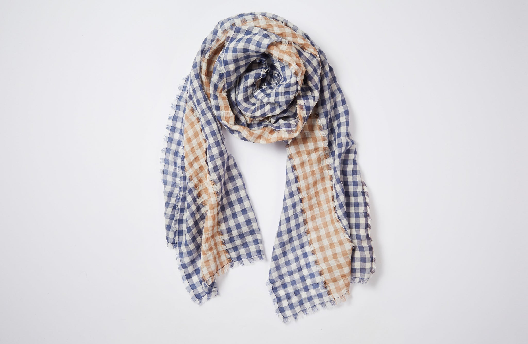 The Mixed Gingham Scarf