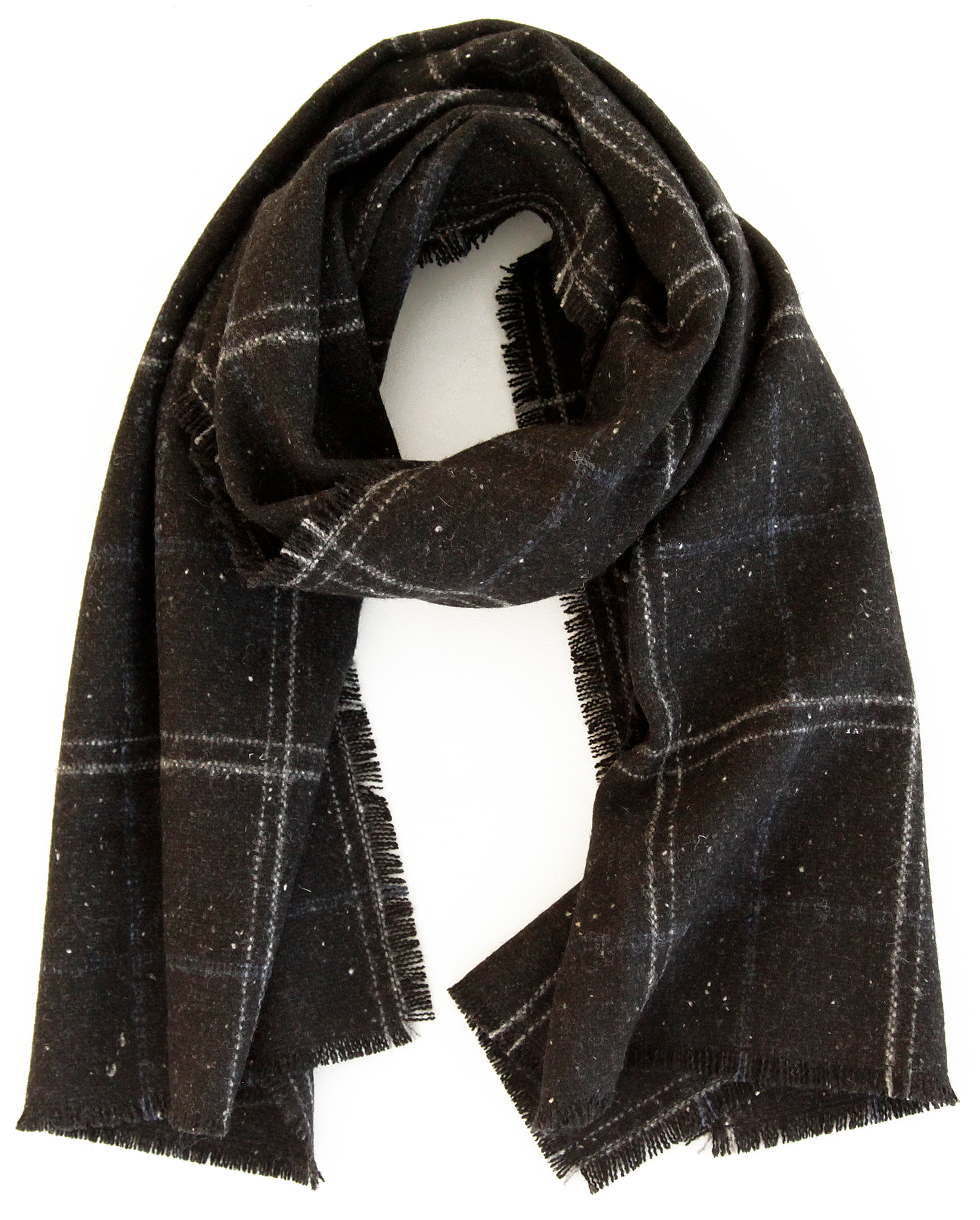 The Wool Windowpane Scarf