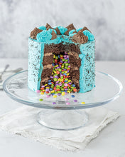 Load image into Gallery viewer, Blue Piñata Cake - Patisserie Valerie