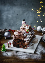Load image into Gallery viewer, Classic Chocolate Yule Log - Patisserie Valerie