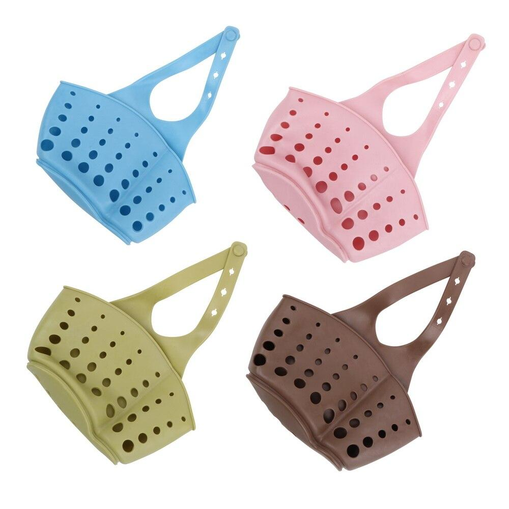 PVC Gadget Accessories Draining Basket Rack Storage Hanging Kitchen Wash Soap Cloth Clean Ball Shelf Organizer