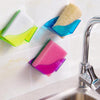 Double Suction Cup Sink Sponge Kitchen Holder Home Goods Utensils Drying Rack Holder Storage Organizer Paper Towel