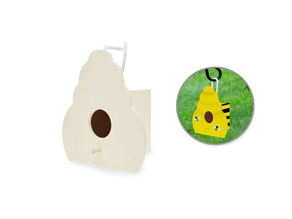 DIY WOOD BEEHIVE BIRDHOUSE WITH POLY CORD HANGER - Unusual Finds Discount Store