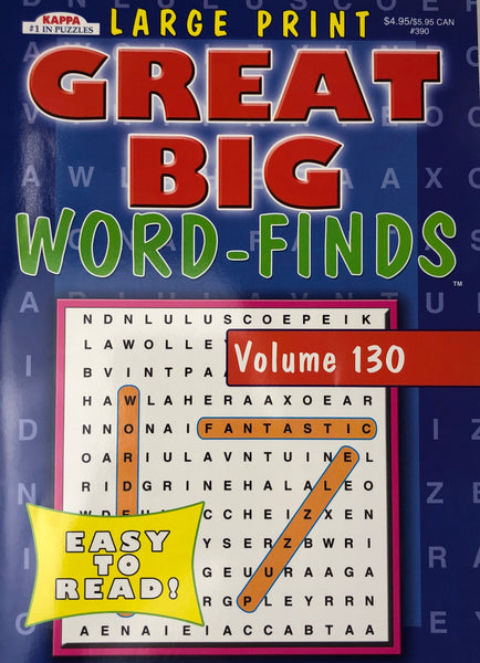 LARGE PRINT GREAT BUG WORD FIND BOOK. Volume 130 - Unusual Finds Discount Store