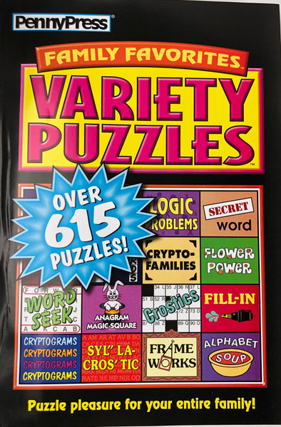 JUMBO PENNY PRESS VARIETY PUZZLES - Unusual Finds Discount Store