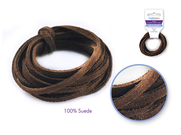 Jewelry Suede Craft Cord- Brown - Unusual Finds Discount Store