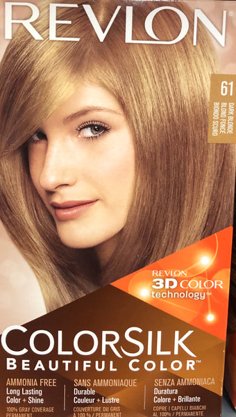 REVLON COLORSILK PERMANENT HAIR DYE 61 DARK  BLONDE - Unusual Finds Discount Store