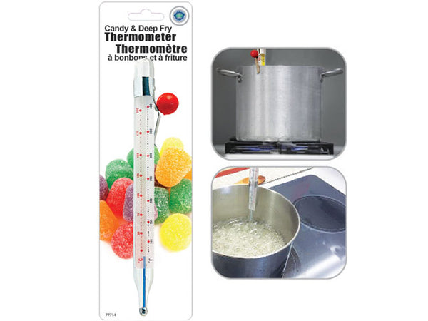 CANDY & DEEP FRY GLASS THERMOMETER - Unusual Finds Discount Store