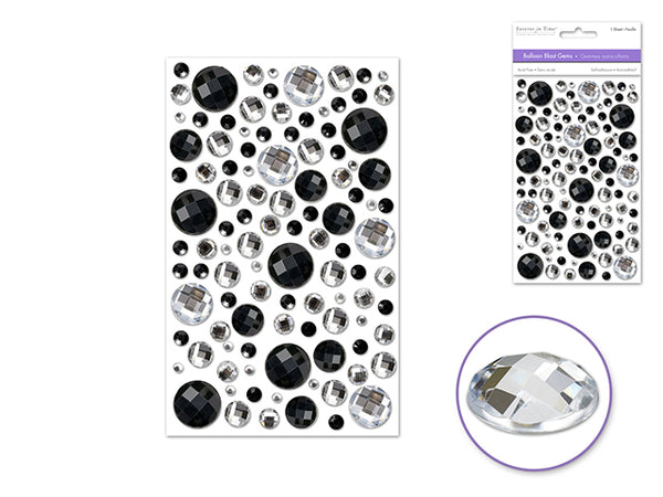BALLOON BLAST GEMS CLASSIC BLACK 3D SELF-adhesive - Unusual Finds Discount Store