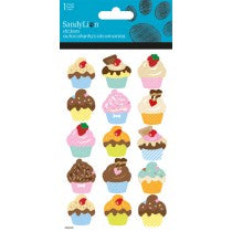 CUPCAKES GLITTER STICKERS - Unusual Finds Discount Store