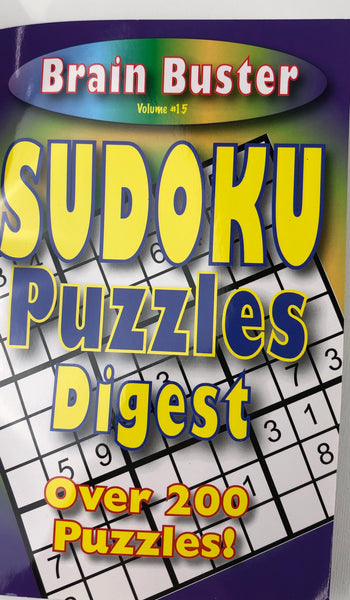 BRAIN BUSTER SUDOKU PUZZLE DIGEST. VOL #15 - Unusual Finds Discount Store