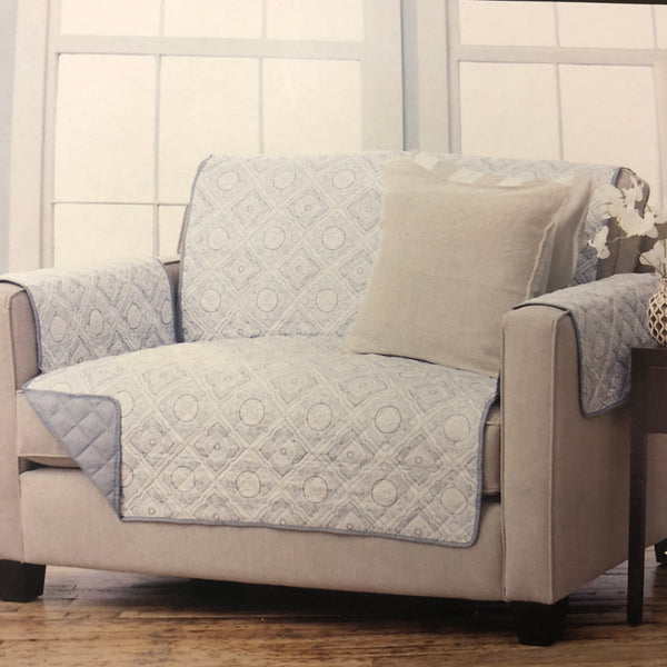 Quilted Loveseat Protector Cover Reversible & Water resistant - Unusual Finds Discount Store
