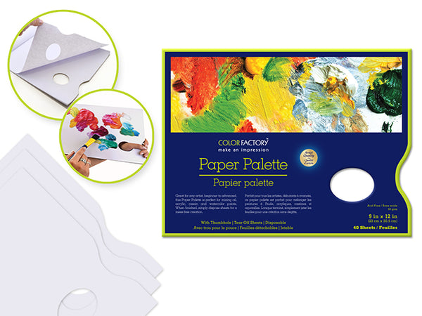 "PAPER PALETTE 9x12"" 40 SHEETS - Unusual Finds Discount Store"