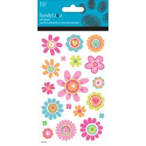 FLOWERS GLITTER STICKERS - Unusual Finds Discount Store