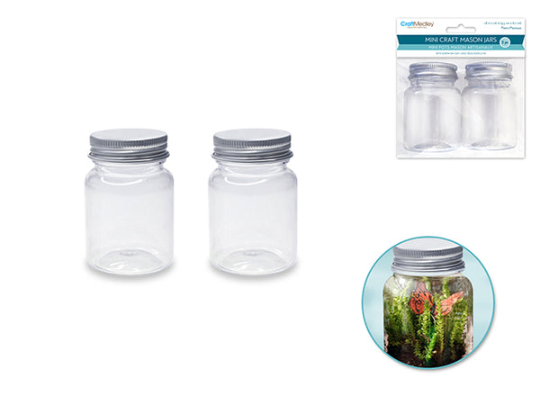 MINI CRAFT MASON JARS 2pc - Unusual Finds Discount Store