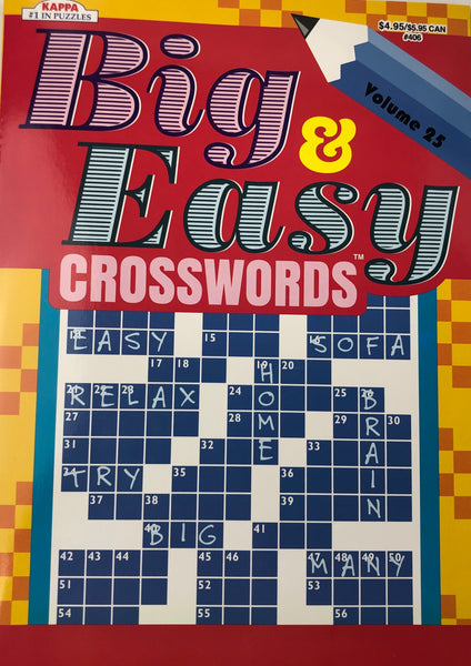 BIG AND EASY CROSSWORD PUZZLE BOOK. VOLUME 25 - Unusual Finds Discount Store
