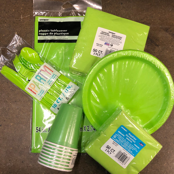 NEON GREEN TABLEWARE - Unusual Finds Discount Store
