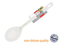 MELAMINE SLOTTED SPOON (WHITE) - Unusual Finds Discount Store
