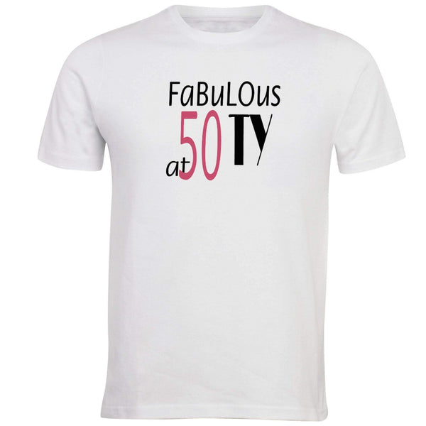 Fabulous at 50 T-shirt - Unusual Finds Discount Store