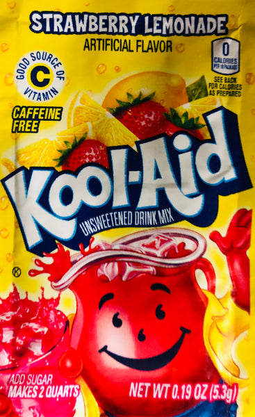 KOOL-AID STRAWBERRY LEMONADE SINGLE PACKET - Unusual Finds Discount Store