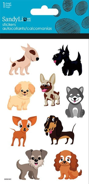 PLAYFUL PUPPIES PUFFY STICKERS - Unusual Finds Discount Store