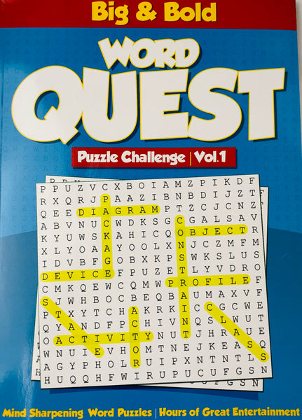 BIG AND BOLD WORD FIND QUEST BOOK VOL 1 - Unusual Finds Discount Store