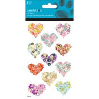 FLOWER HEART GLITTER STICKERS - Unusual Finds Discount Store
