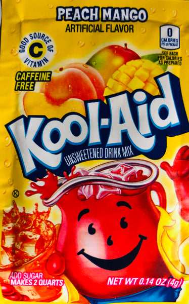 KOOL-AID PEACH MANGO SINGLE PACKET - Unusual Finds Discount Store