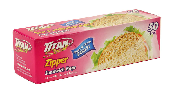 "ZIPPER SANDWICH BAGS 6.5 x 6"" - Unusual Finds Discount Store"