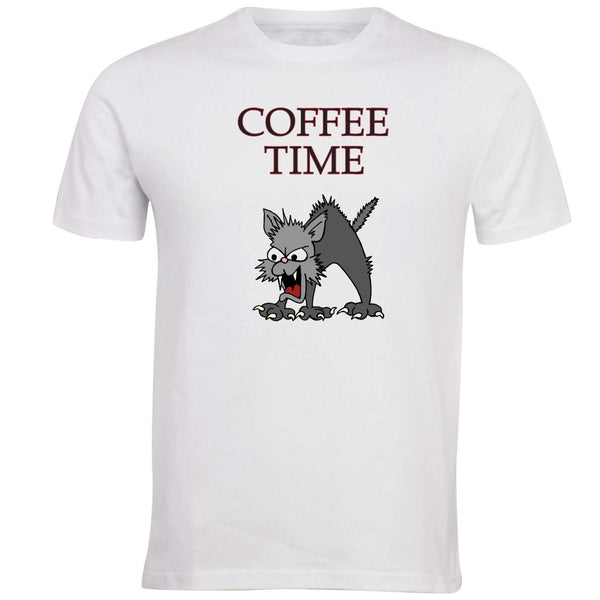 Coffee Time Cat T-shirt - Unusual Finds Discount Store