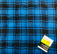 Chair Pad Blue and Black Plaid - Unusual Finds Discount Store