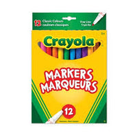 CLASSIC COLORS CRAYOLA MARKERS 12pk - Unusual Finds Discount Store