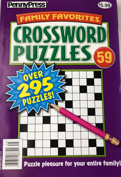JUMBO PENNY PRESS CROSSWORD PUZZLE BOOK - Unusual Finds Discount Store