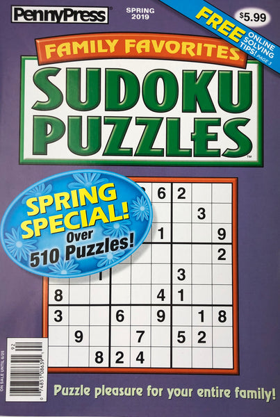 JUMBO PENNY PRESS SUDOKU PUZZLE BOOK - Unusual Finds Discount Store