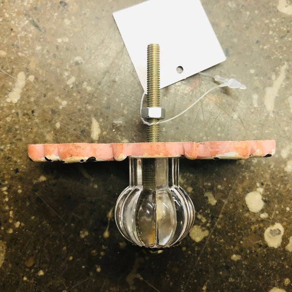 METAL DRAWER PULL PINK ANTIQUE STYLE - Unusual Finds Discount Store